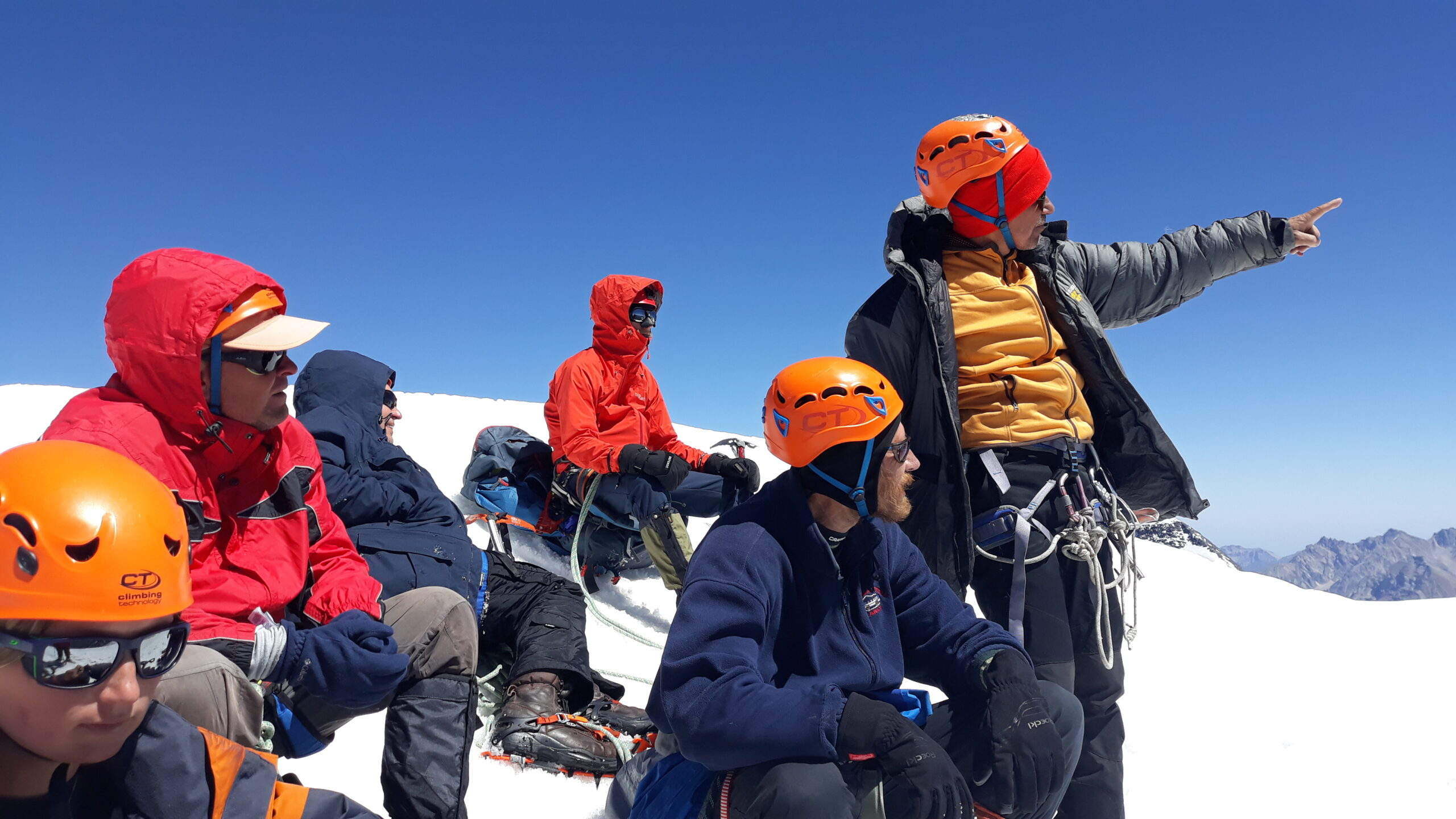 фото _ на вершине горы Тетнульд. Восхождение на Тетнульд с планБ