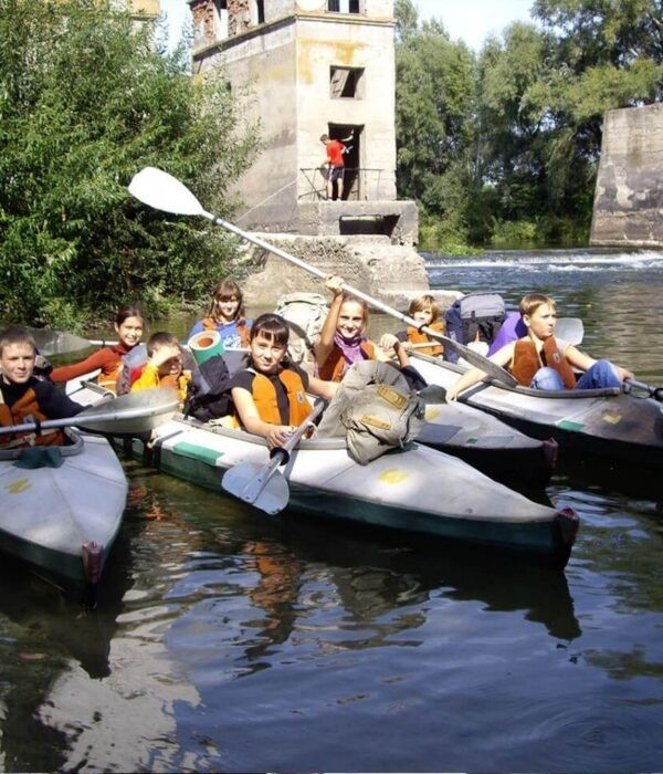 фотографии _ Дети в водном походе. Сплав на байдарках по реке Псел с planB.ua