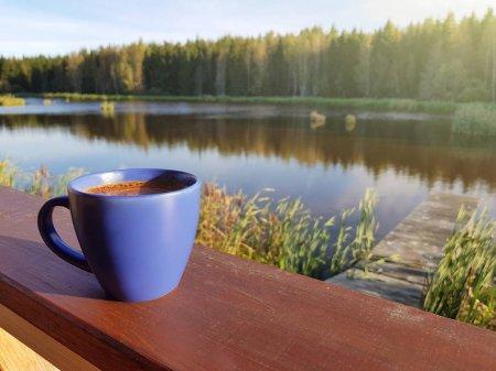 фото _ утренний кофе на реке тур из Киева с planb.ua